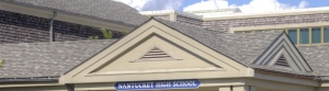 Clip of front of Nantucket High School building